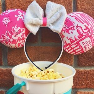 Pink and white Mickey ears